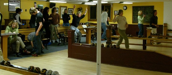 People excited while bowling